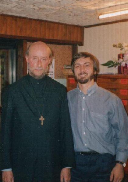 """Cu Pr. Marc-Antoine la sfârșitul primei emisiuni """"L'Eglise orthodoxe aujourd'hui"""" în direct"""
