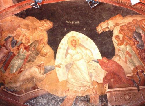 Învierea Domnului nostru Iisus Hristos, frescă de la Mănăstirea Hora din Constantinopole