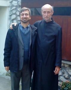 Cu Părintele Marc Antoine la parohia sa din Louveciennes