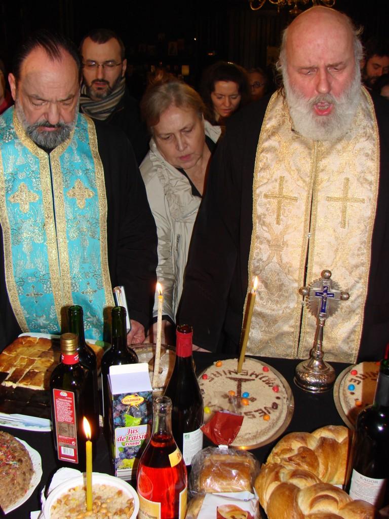 Parastas pentru Valeriu Gafencu în Catedrala Ortodoxă Română din Paris, 25.02.2012